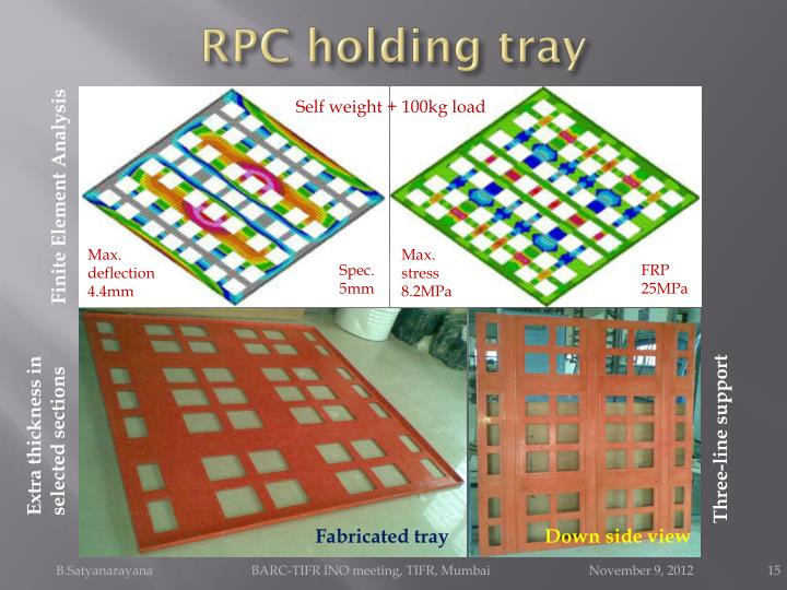 RPC holding tray
