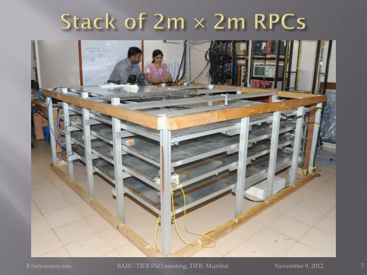 Stack of 2m × 2m RPCs