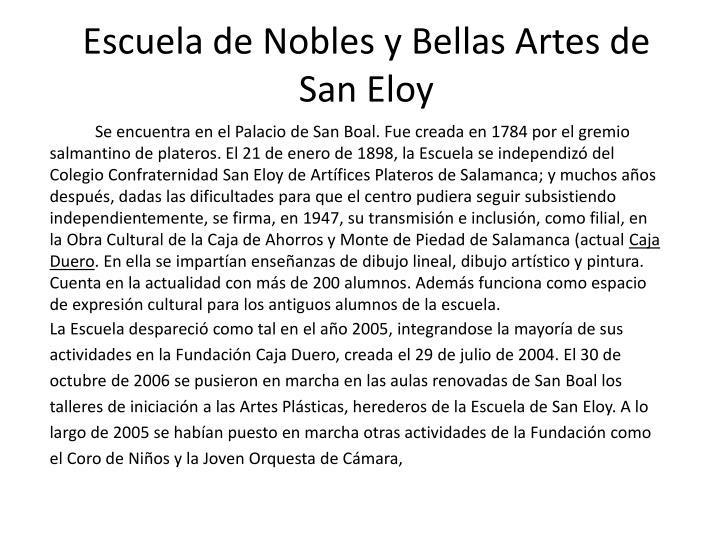 Escuela de Nobles y Bellas Artes de San Eloy
