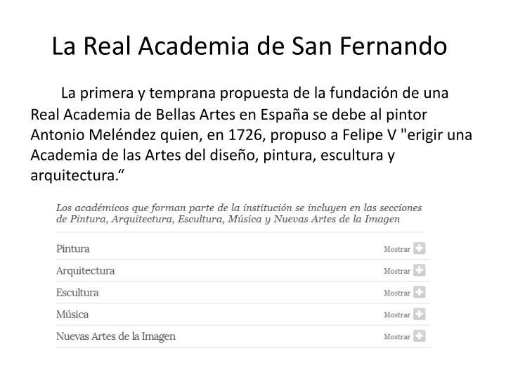La Real Academia de San Fernando