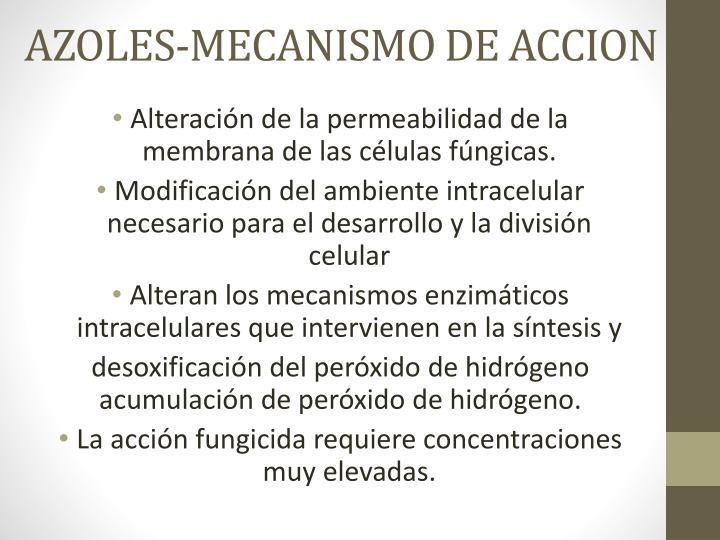 AZOLES-MECANISMO DE ACCION