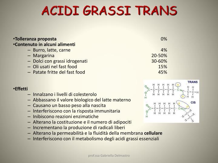 ACIDI GRASSI TRANS