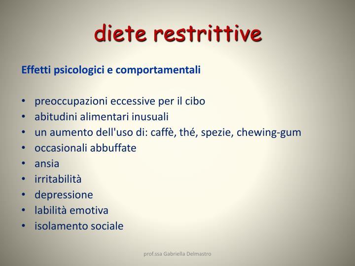 diete restrittive