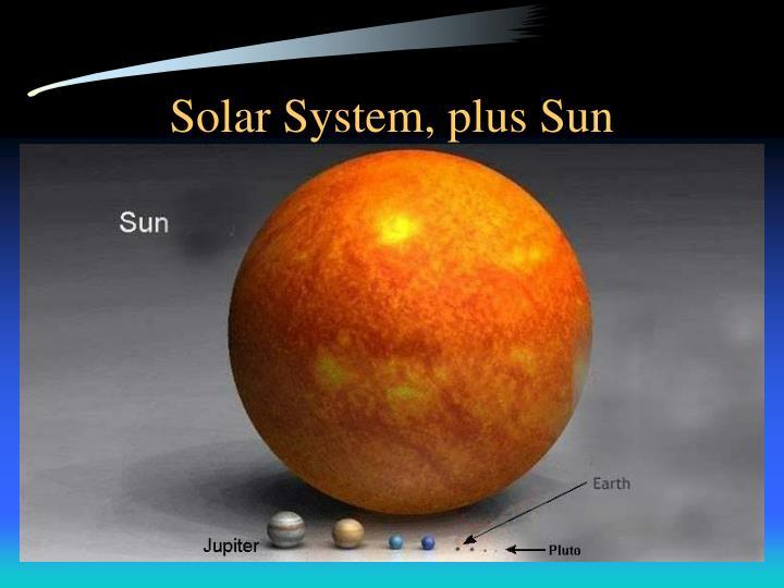 Solar System, plus Sun