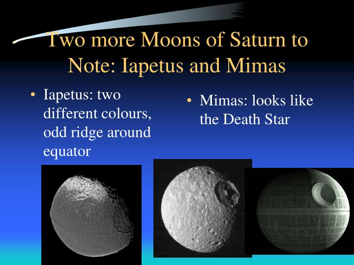 Two more Moons of Saturn to Note: