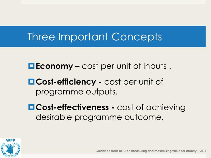 Three Important Concepts