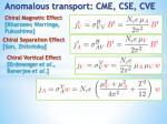 anomalous transport cme cse cve