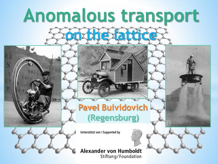 Anomalous transport on the lattice