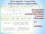 chiral magnetic conductivity finite temperature regularization