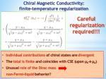 chiral magnetic conductivity finite temperature regularization1