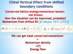 chiral vortical effect from shifted boundary conditions
