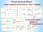 chiral vortical effect