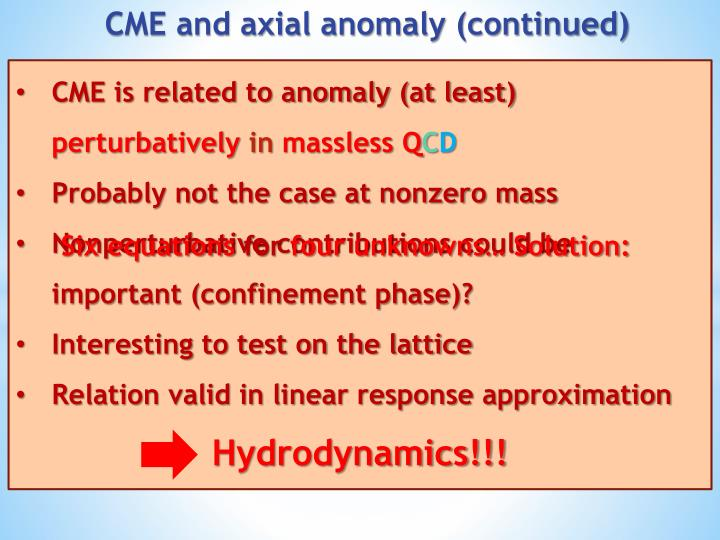 CME is related to anomaly (at least)
