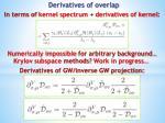 derivatives of overlap