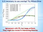 is it necessary to use overlap try wilson dirac