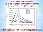 role of conserved current