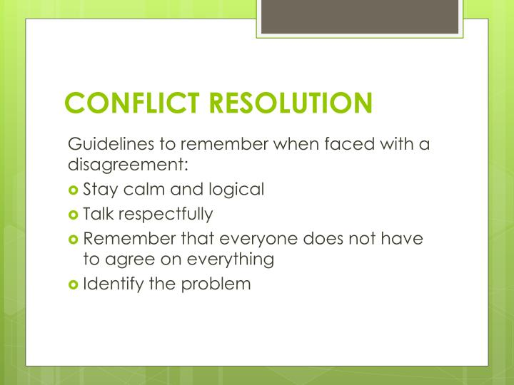 Conflict resolution1