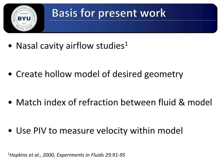Basis for present work