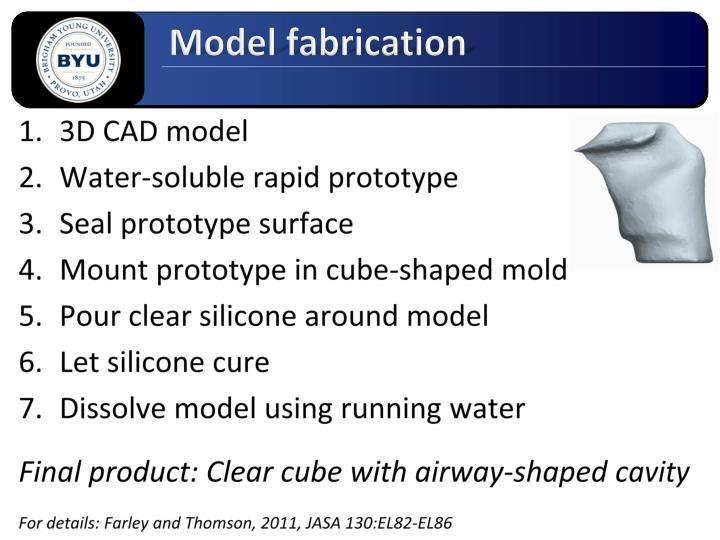 Model fabrication