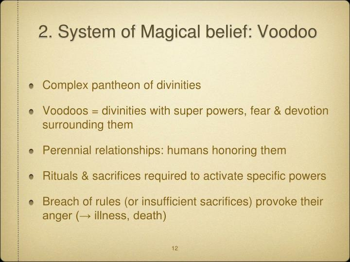 2. System of Magical belief: Voodoo