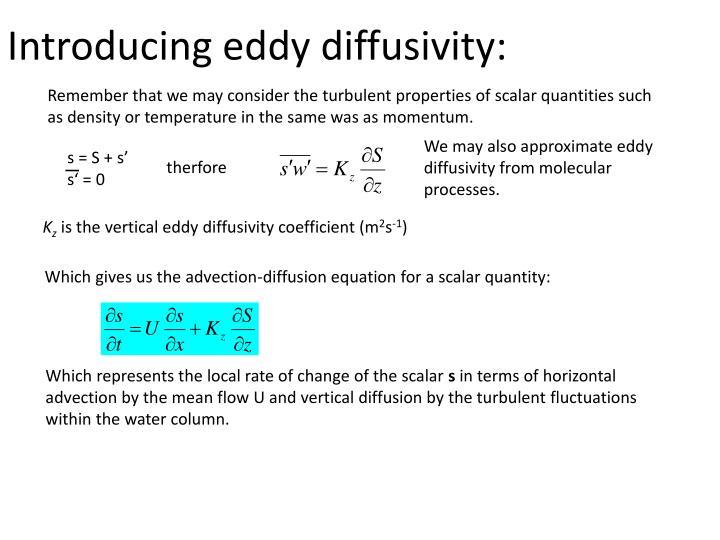 Introducing eddy diffusivity: