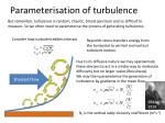 parameterisation of turbulence