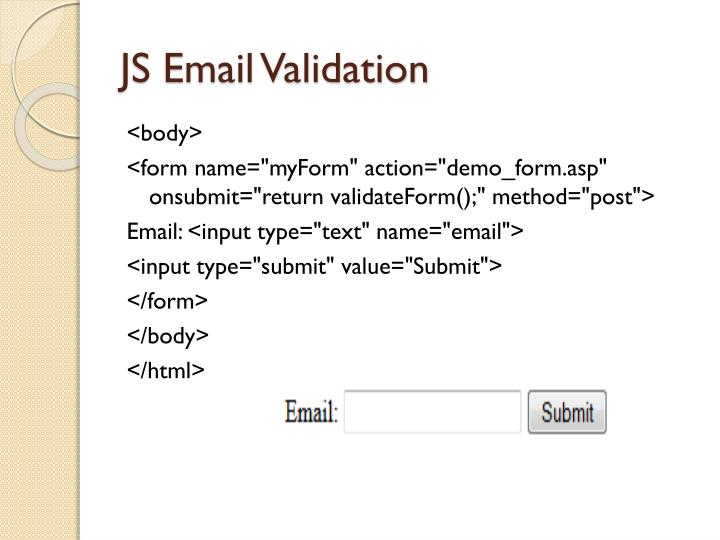 JS Email Validation