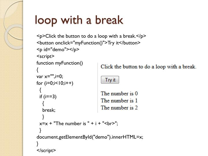 loop with a break