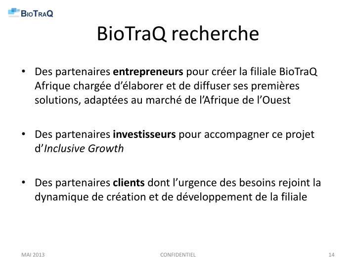BioTraQ