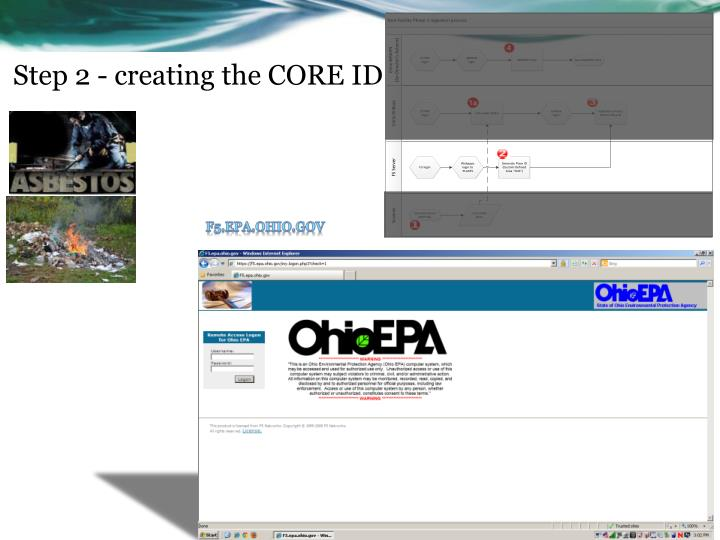 Step 2 - creating the CORE ID