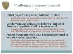 challenges lessons learned
