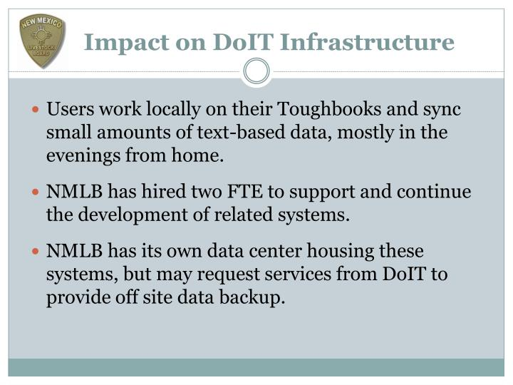 Impact on DoIT Infrastructure