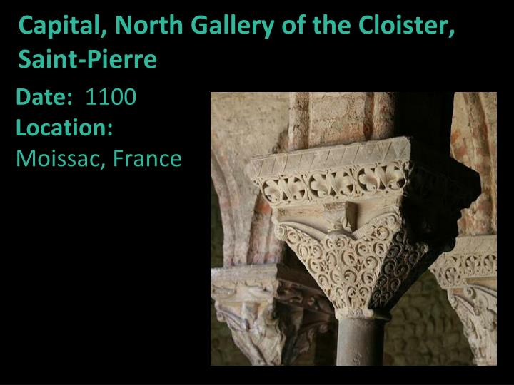 Capital, North Gallery of the Cloister, Saint-Pierre