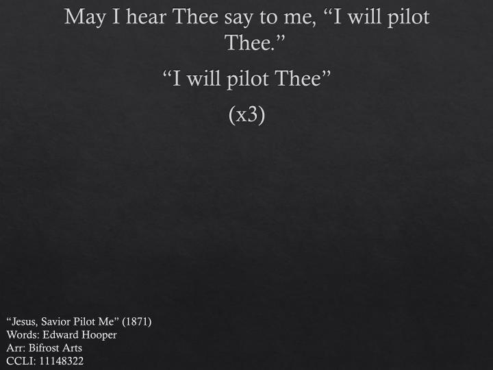 May I hear