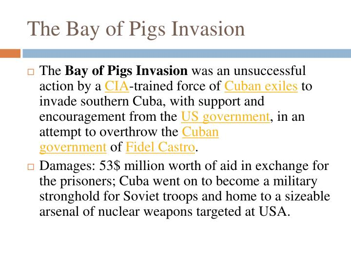 history and unsuccessful operation of the bay pigs invasion Bay of pigs: cia official history twelve years after the failed invasion this volume critically examines the investigation of the bay of pigs operation.