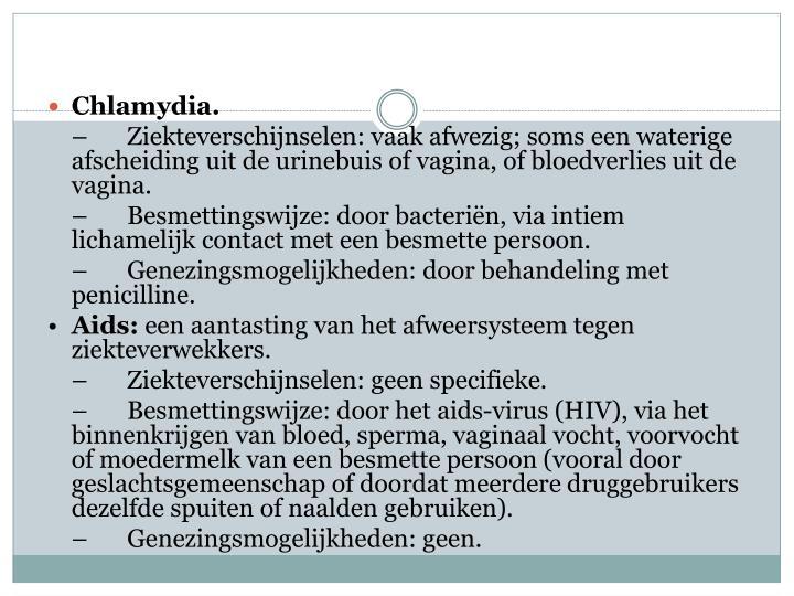 Chlamydia.