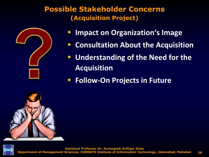 Possible Stakeholder Concerns