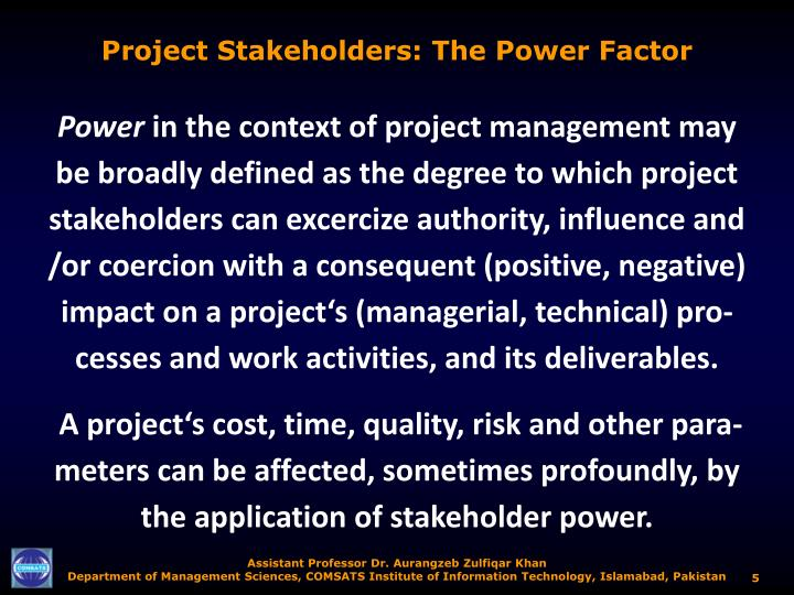 Project Stakeholders: The Power Factor
