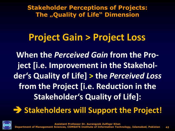 Stakeholder Perceptions of Projects: