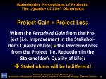stakeholder perceptions of projects the quality of life dimension1