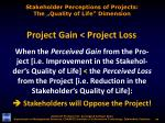 stakeholder perceptions of projects the quality of life dimension2