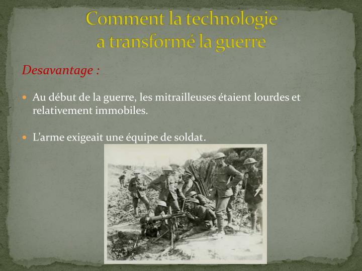 Comment la technologie