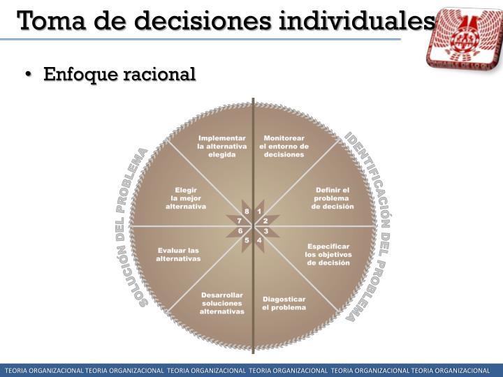 Toma de decisiones individuales
