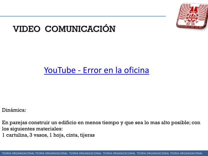 VIDEO  COMUNICACIÓN