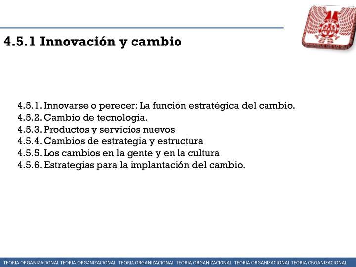 4.5.1 Innovación y cambio