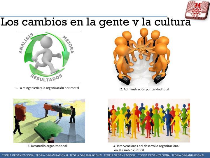 Los cambios en la gente y la cultura