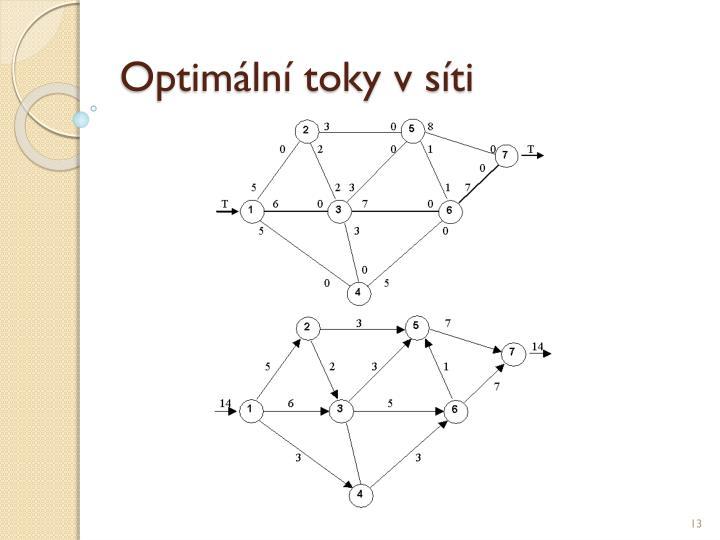 Optimální toky v síti