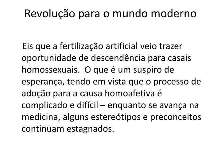 Revolução para o mundo moderno