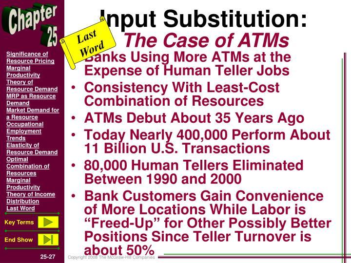 Input Substitution: