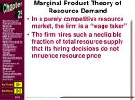 marginal product theory of resource demand
